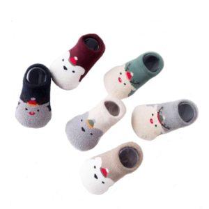 Baby Socks | Newborn, Infant, Toddler Low Cut Christmas Holiday Theme Socks | Unisex, 6-pack (Gift Box Set)