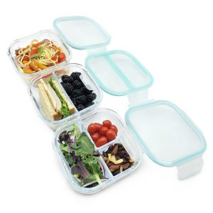 Glass Food Storage Containers with Lids: Meal Prep Containers