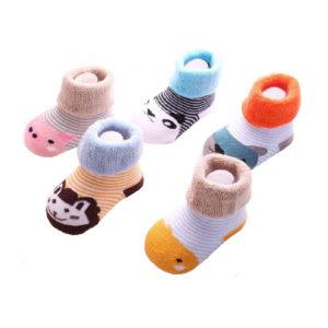 Baby Socks | Unisex, Infant, Toddler Crew Socks | 5 pack, Gift Box Set